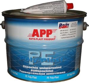 Купить 010109 Шпатлевка универсальная APP PE-POLY-PLAST, 4,0 кг  - Vait.ua