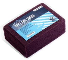 Купить Скотч-брайт Nylon Web Indasa (коричневый), 230мм х 155мм х 6мм - Vait.ua