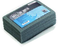 Купить Скотч-брайт Nylon Web Indasa (серый), 230мм х 155мм х 6мм - Vait.ua