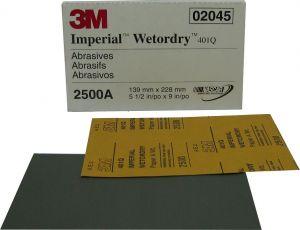 Купить 02045 Наждачная водостойкая бумага 3M P2500 (шлифовка с водой) - Vait.ua
