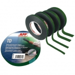 040783 Двусторонняя лента клеющая зеленая APP, 19мм х 10м
