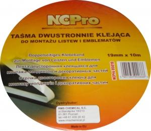 Купить Лента двусторонняя акриловая NCPro белая, 12мм х 10м - Vait.ua