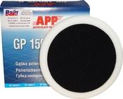 080105 Полировальная губка твердая APP f150 на липучке, 150мм х 2,5см, белая