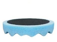 Купить 080401 Полировальная губка профилированная универсальная APP f150 на липучке, 150мм х 2,5см, голубая - Vait.ua