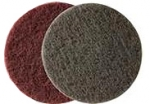 Абразивный войлок (скотч-брайт) Corcos в дисках для матования поверхности FINE D150, красный