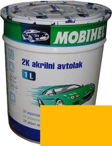 """Купить 1035 Эмаль акриловая Helios Mobihel """"Золотисто-желтая"""" (0,75л) в комплекте с отвердителем 9900 (0,375л) - Vait.ua"""