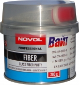 Шпатлёвка Novol FIBER со стекловолокном, 0,2 кг