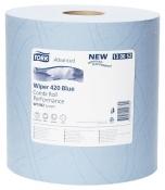 130052 Двухслойная протирочная бумага Tork Advanced 420, 255м, 750 листов, 34х23,5 см, голубая