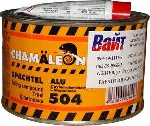 Купить Шпатлевка полиэфирная с алюминием 504 Chamaleon Alu, 1кг - Vait.ua