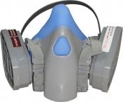 Полумаска для покрасочных работ серии 7500 Comfortable and Durable в комплекте с угольными фильтрами, пылевыми фильтрами и держателями (защита Р1), средняя