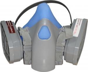 Купить Полумаска для покрасочных работ серии 7500 Comfortable and Durable в комплекте с угольными фильтрами, пылевыми фильтрами и держателями (защита Р1), средняя - Vait.ua