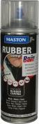 """Синтетическое резиновое покрытие Maston RUBBERcomp """"Черный полуглянцевый"""" в аэрозоле, 400мл"""