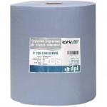 Полотенце бумажное обтирочное 3-х слойное 195-FCZ, 180м, голубое