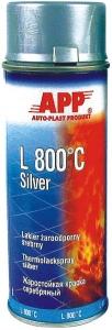 Купить 210433 Жаростойкая аэрозольная эмаль APP L 800°С, серебристая (400 мл) - Vait.ua