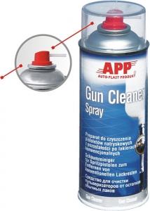 Купить 210901 Средство для очистки пульверизаторов от остатков обычных лаков APP Gun Cleaner в аэрозоле, 400мл - Vait.ua