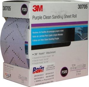 Купить 30705 Пурпурный мультидырочный абразивный рулон 3M Hookit 334U, 12м х 70мм, Р320 - Vait.ua