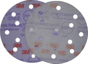 Купить 51158 Супертонкий абразивный полировальный диск 3M™ Hoоkit серия Purple 260L, конфигурация LD861A, диам. 150 мм, Р1200 - Vait.ua
