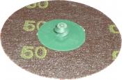 Фибровый диск Green Corps, крепление Roloc, d 75мм, P50