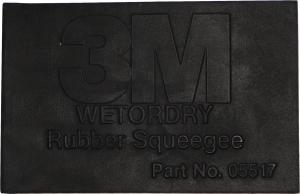 Купить 05517 Резиновый ракель 3M™ Wetordry™ Rubber Squeegee, 60мм х 108мм - Vait.ua