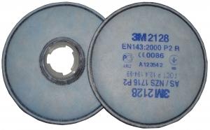 Купить Противоаэрозольный фильтр 3M 2128 от твердых и жидких аэрозольных частиц для респираторов серии 6000 / 7500, уровень защиты Р2 - Vait.ua