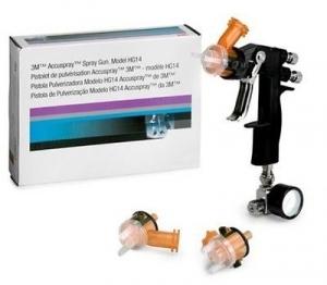 Купить 16577 Краскопульт HG14 3M™ Accuspray™ Spray Gun Model HG14 kit - дюза 1,4мм + 3 сменных насадки + манометр - Vait.ua