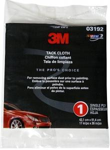 Купить 03192 Протирочная антистатическая липкая салфетка 3M Tack Cloth Aqua, 43см x 91см - Vait.ua