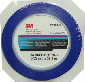 Купить 06404 Виниловая лента 3M™ 471+ 3мм х 33м 70ºC, синяя - Vait.ua