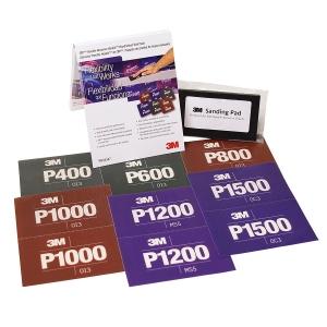 Купить 34347 Комплект абразивных листов для ручной шлифовки на основе гибкого пластика 3M™ CROW Hookit™ (140 мм x 171 мм) + оправка - Vait.ua