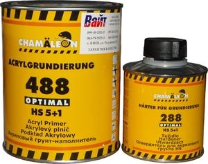 Купить Акриловый грунт-наполнитель 488 5+1 Chamaleon HS Optimal (1л) + отвердитель (0,2л), черный - Vait.ua