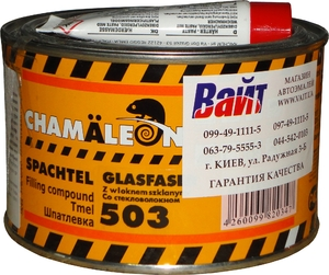 Купить Шпателевка полиэстровая со стекловолокном 503 Chamaleon Glass, 0,515кг - Vait.ua