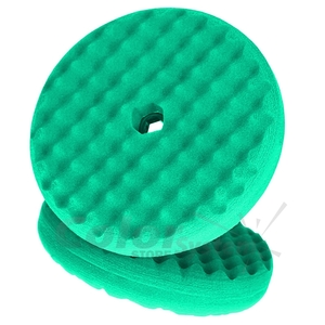 Купить 50962 Двухсторонний поролоновый полировальный круг 3M 150мм, рельефный, зеленый QC - Vait.ua