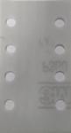60409 3М Абразивные листы 395L Hookit II, 8отв., серые, 70мм x 127мм P120