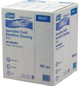 Купить Tork 90537 Нетканый материал для интенсивной очистки в рулоне в коробе, 114м, 300 листов - Vait.ua