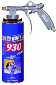 Купить Мастика антикоррозионная (антикор) Body 930 Black (под пистолет), 1л - Vait.ua