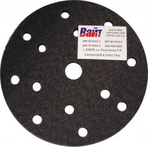 Купить 93015 Универсальная мягкая подложка PYRAMID, диаметр 150мм, 15 отверстий, черная - Vait.ua