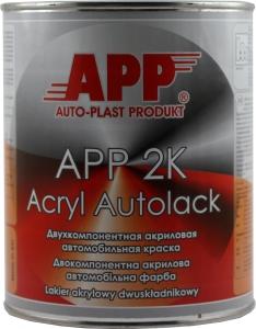 """Купить 106 Двухкомпонентная акриловая автоэмаль APP """"Серая"""" (1л) в комплекте с отвердителем (0,5л) - Vait.ua"""