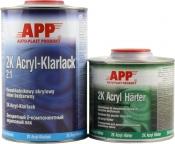 020101 Двухкомпонентный акриловый лак APP 2K Acryl Klarlack 2:1 (1л) + отвердитель Harter LHN (0,5л)