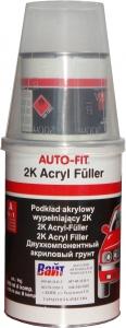 Купить Грунт акриловый 5+1 Auto-fit (1л) с отвердителем (0,2л), черный - Vait.ua