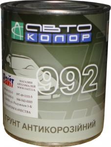 Купить 1К антикоррозионный грунт АВТОКОЛОР 992, серый, 1л - Vait.ua