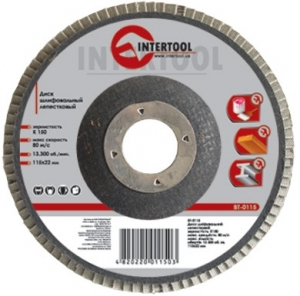 Купить Диск шлифовальный лепестковый INTERTOOL BT-0235, 180 мм, K150 - Vait.ua