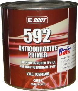 Купить 1К антикоррозийный грунт BODY 592, серый, 1л - Vait.ua