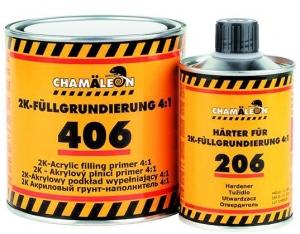 Купить Акриловый грунт-наполнитель 406 4+1 Chamaleon HS Optimal (0,8л) + отвердитель (0,2л), серый - Vait.ua