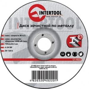 Купить Круг зачистной по металлу INTERTOOL CT-4024, 180 х 6,0 х 22,2 мм - Vait.ua