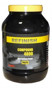 Купить Универсальная полировальная паста (пастообразная, более агрессивная) Cartec Refinish Compound 4800 - Fast Cutting Power, 3 кг - Vait.ua