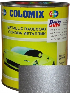 """Купить 640 Эмаль базовая с эффектом металлик COLOMIX """"Серебристый"""", 1л - Vait.ua"""
