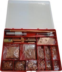 Купить Набор привариваемых насадок для правки стали в пластиковой коробке (расходные материаллы для споттера) - Vait.ua