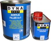 Грунт-выравниватель Dynacoat Acrillyc Filler 4+1 (1л) + отвердитель (0,25л)