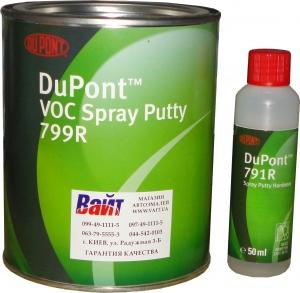 Купить 2K распыляемая шпатлевка 1л, в комплекте с отвердителем 791R - Vait.ua