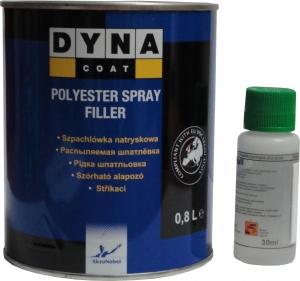 Купить Полиэфирная распыляемая шпатлевка DYNA Spray Filler, 0,8л - Vait.ua