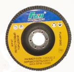 Диск лепестковый торцевой FANGDAWANG 125мм х 22,2мм, Р120